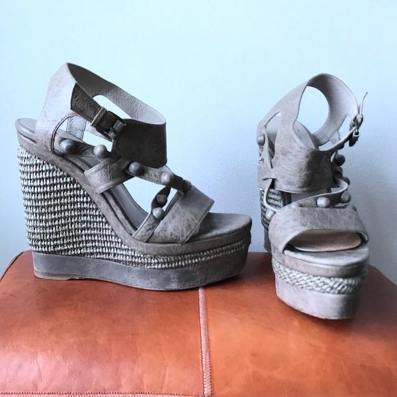 37b720025467 Balenciaga Shoes - Balenciaga grey ARENA platform wedges